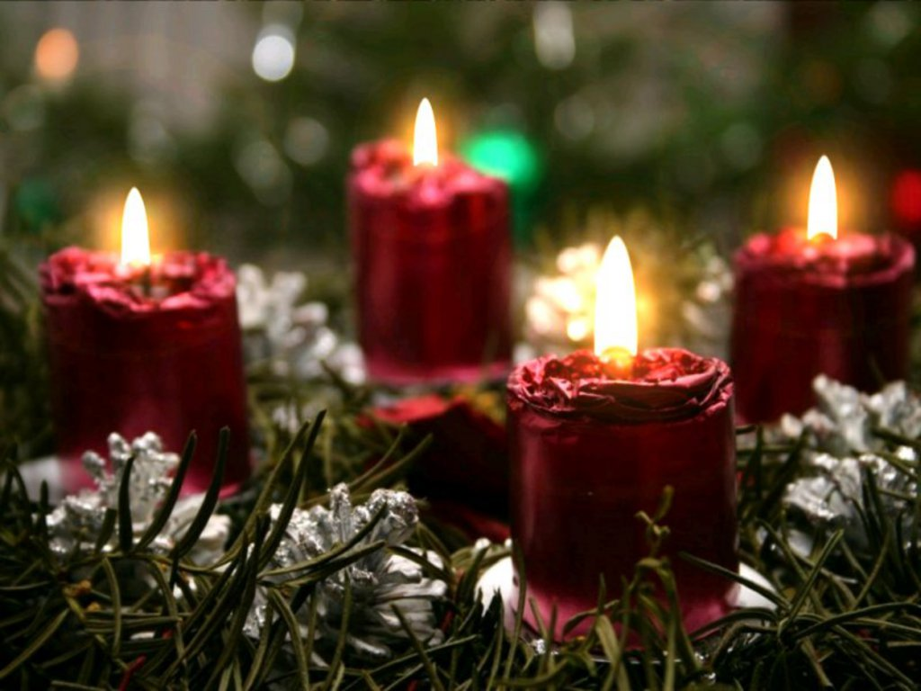 Greeting wallpapers christmas candle wallpapers for Candele on line