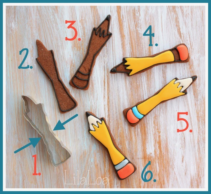 Decorated Pencil Cookies Tutorial