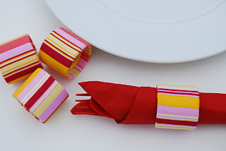 Easy napkin rings