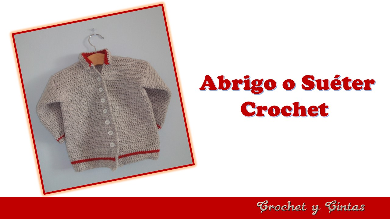 Chaqueta, abrigo, suéter a crochet para bebés ~ Crochet y Cintas