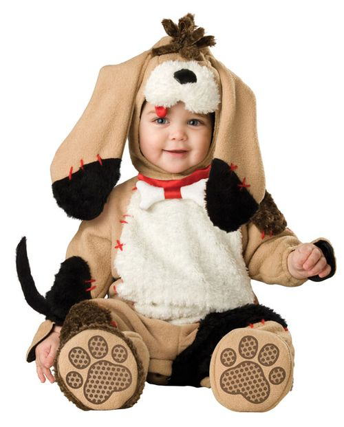 Baby dressed as a dog