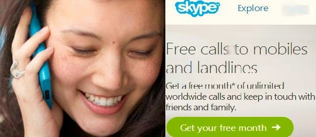 Get Skype & Rebtel unlimited free calls to cell phones & landlines across the globe