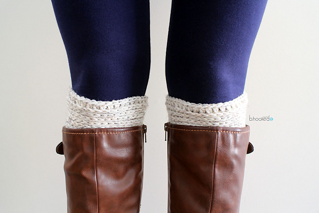 free crochet pattern ribbed boot cuffs
