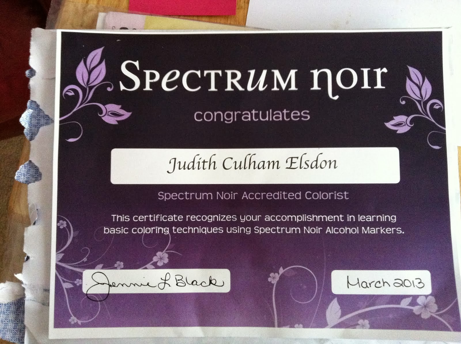 Spectrum Noir Accreditation