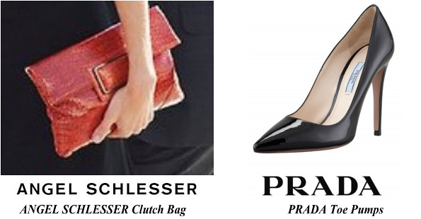 Queen Letizia's PRADA Toe Pumps and ANGEL SCHLESSER Clutch Bag