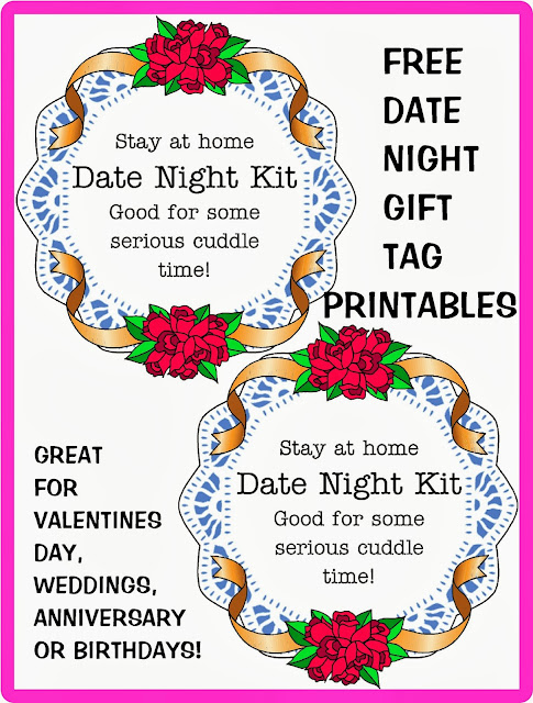 here is another fun gift tag that can be used for a date night gift