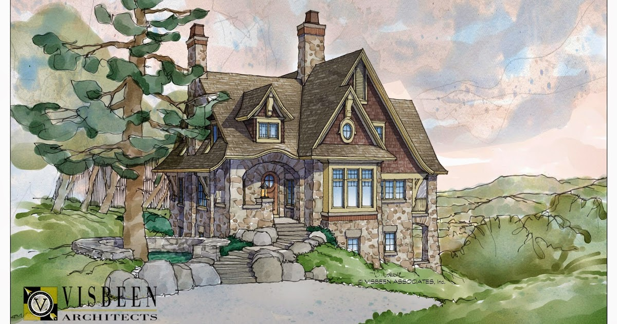 Visbeen architects fairytale cottages for Stone cottage house plans