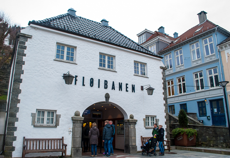 Entrance to the floibanen of bergen norway