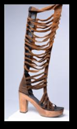 botas estilo gladiador