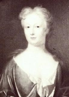 Elizabeth Johnson from print on display on 1st floor, Dr Johnson's House Museum