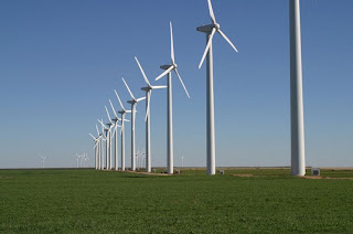 Wind farm in West Texas