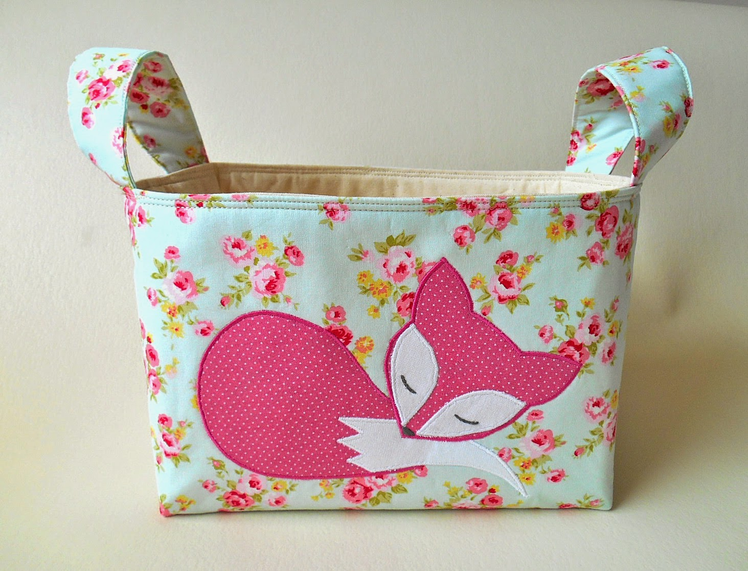 fox fabric basket