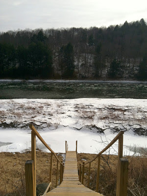 stairs to the delaware river