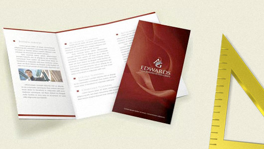 Tri-fold brochure A3 size
