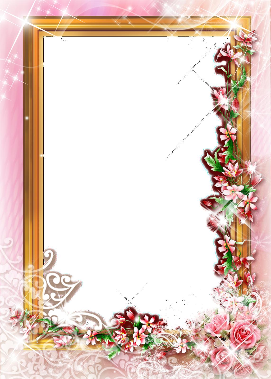 Marcospng fotos karenliz marcos de flores png - Marcos de fotos pared ...