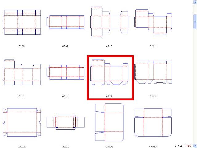 1000 box template: The box 0215|cardboard box templates