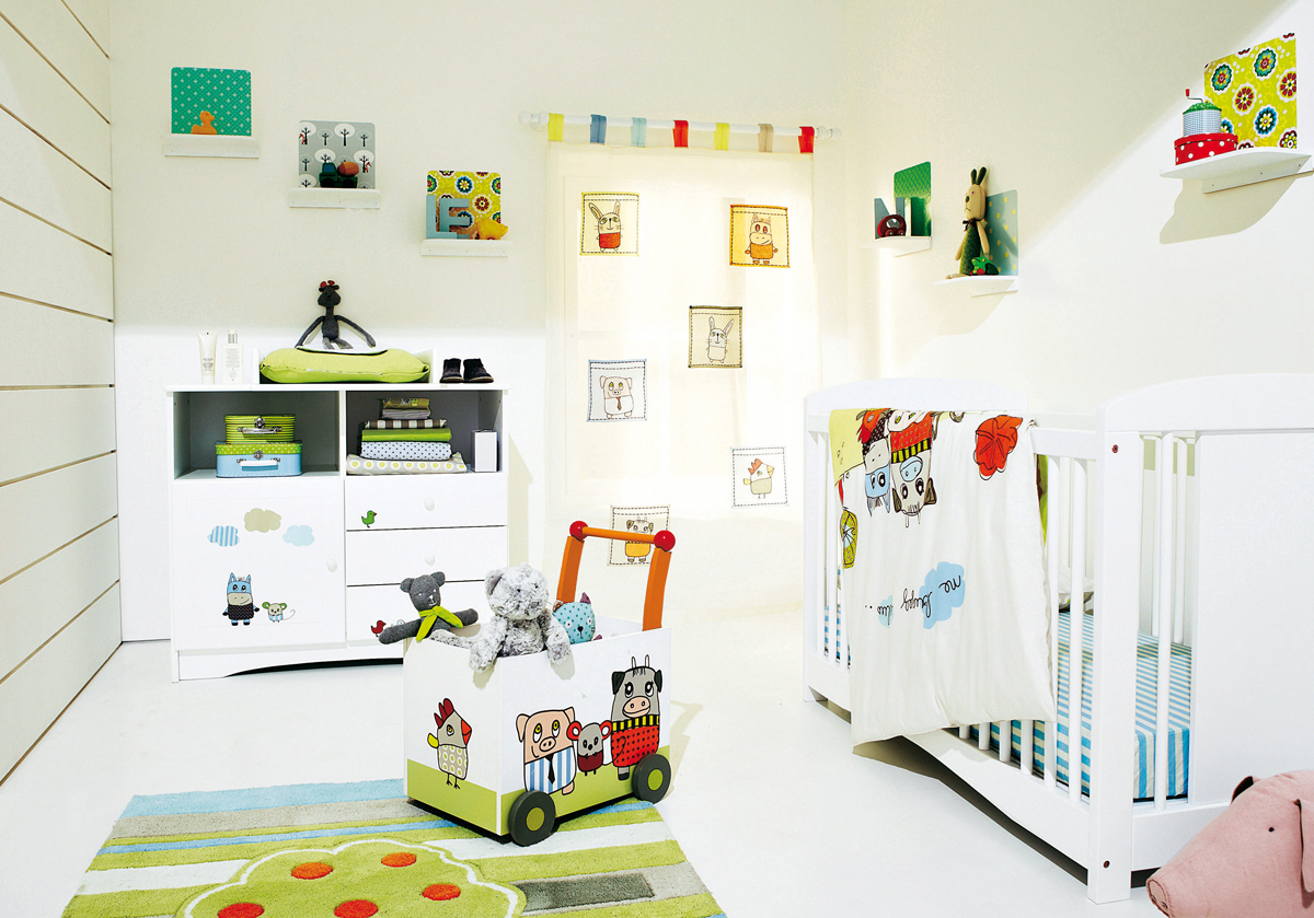 Cool baby nursery design ideas interior decorating home for Baby rooms decoration ideas