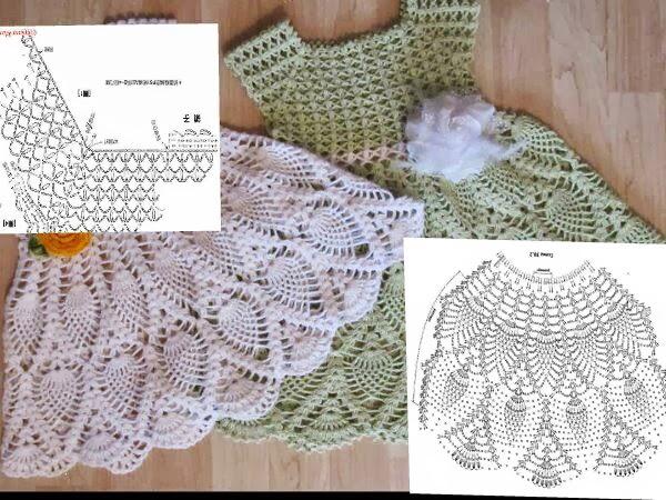 Vestidos Nia De Crochet De 6 A 12 Meses | MEJOR CONJUNTO DE FRASES