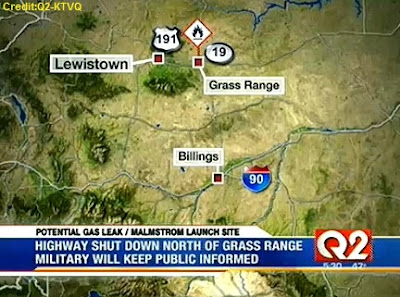 Missile Leak Closes Roads in Montana 11-14-12