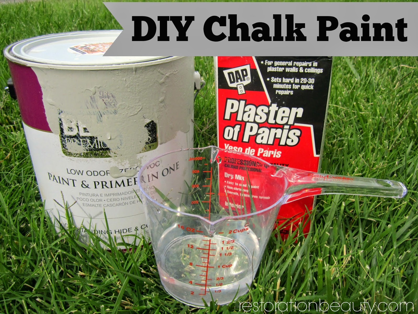 WHAT YOU NEED TO MAKE YOUR OWN CHALK PAINT