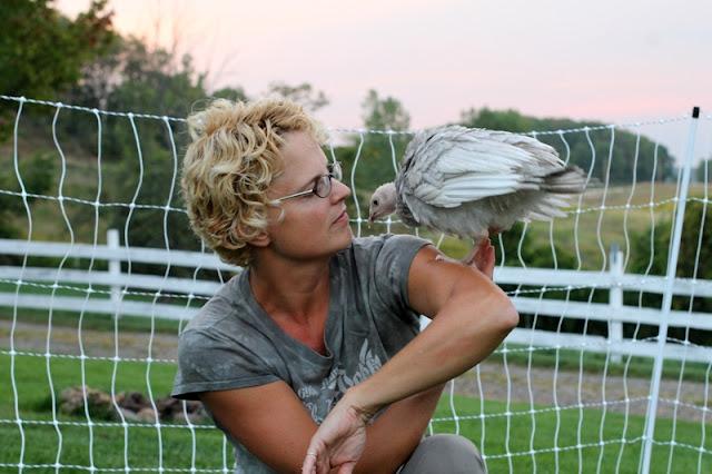 Young turkey on Gypsy Farmgirl's shoulder
