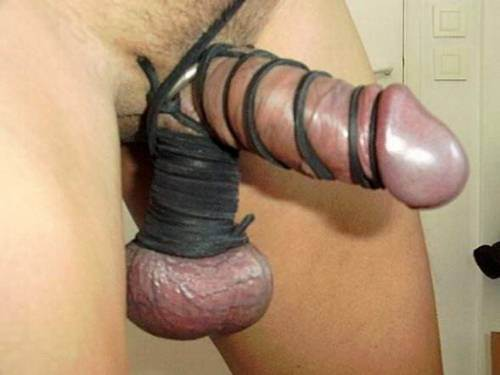 Says bound cock and balls term may