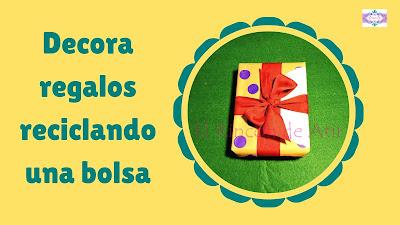 reutiliza bolsas de papel para envolver regalos