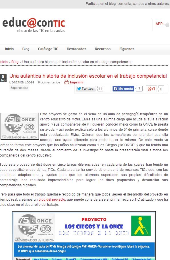 educ@contic recoge nuestro proyecto