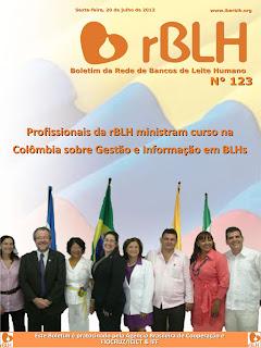 Capa do Boletim da Rede de Bancos de Leite Humano de julho de 2012