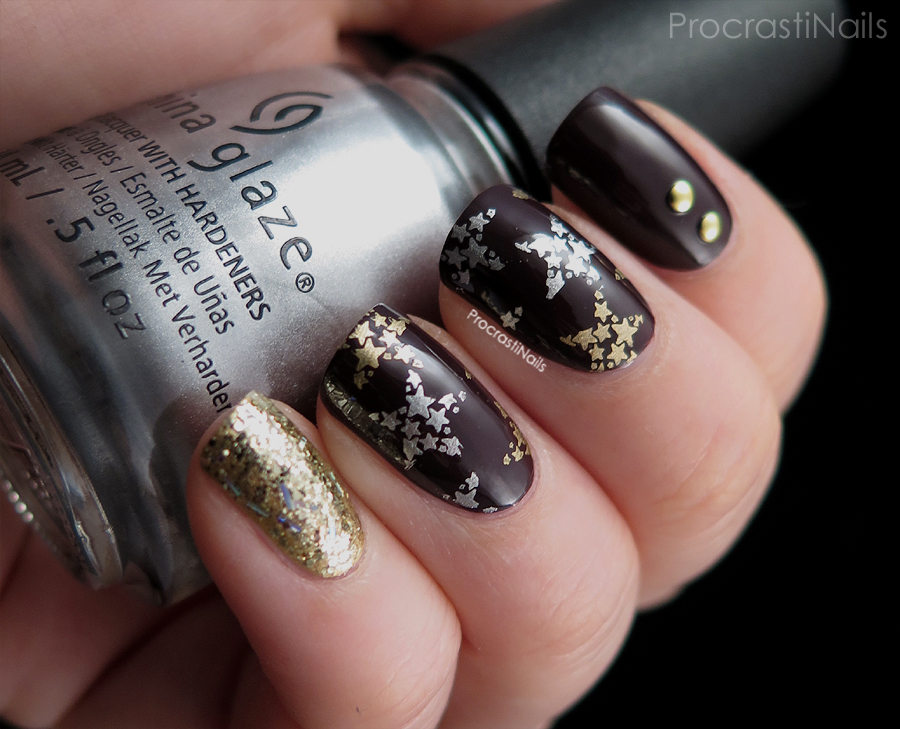 Glitter and Stars Holiday Mani with China Glaze and Maybelline New ...