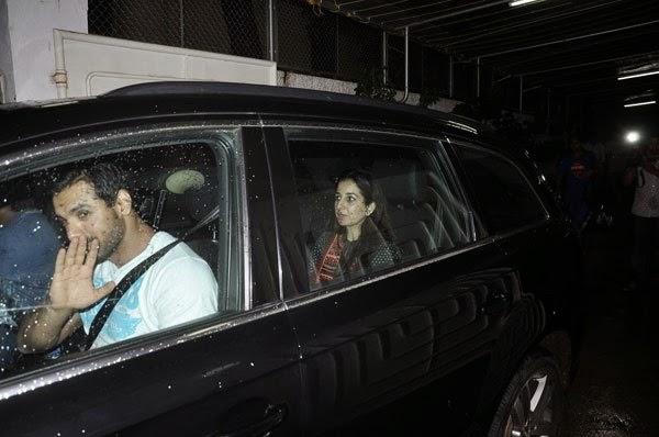 John Abraham snapped at Riteish's movie 'Lai Bhaari' screening
