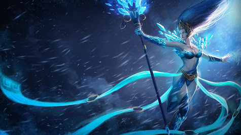 Janna league of legends hd wallpaper frost queen skin splash lol girl