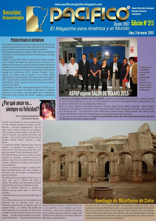 Revista Pacífico Nº 213 Arqueología