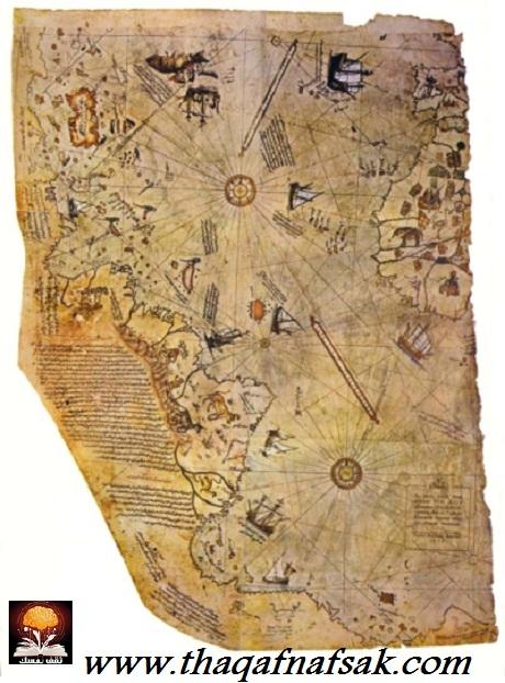 خرائط بيري التي أذهلت العلماء ! piri_reis_map.jpg