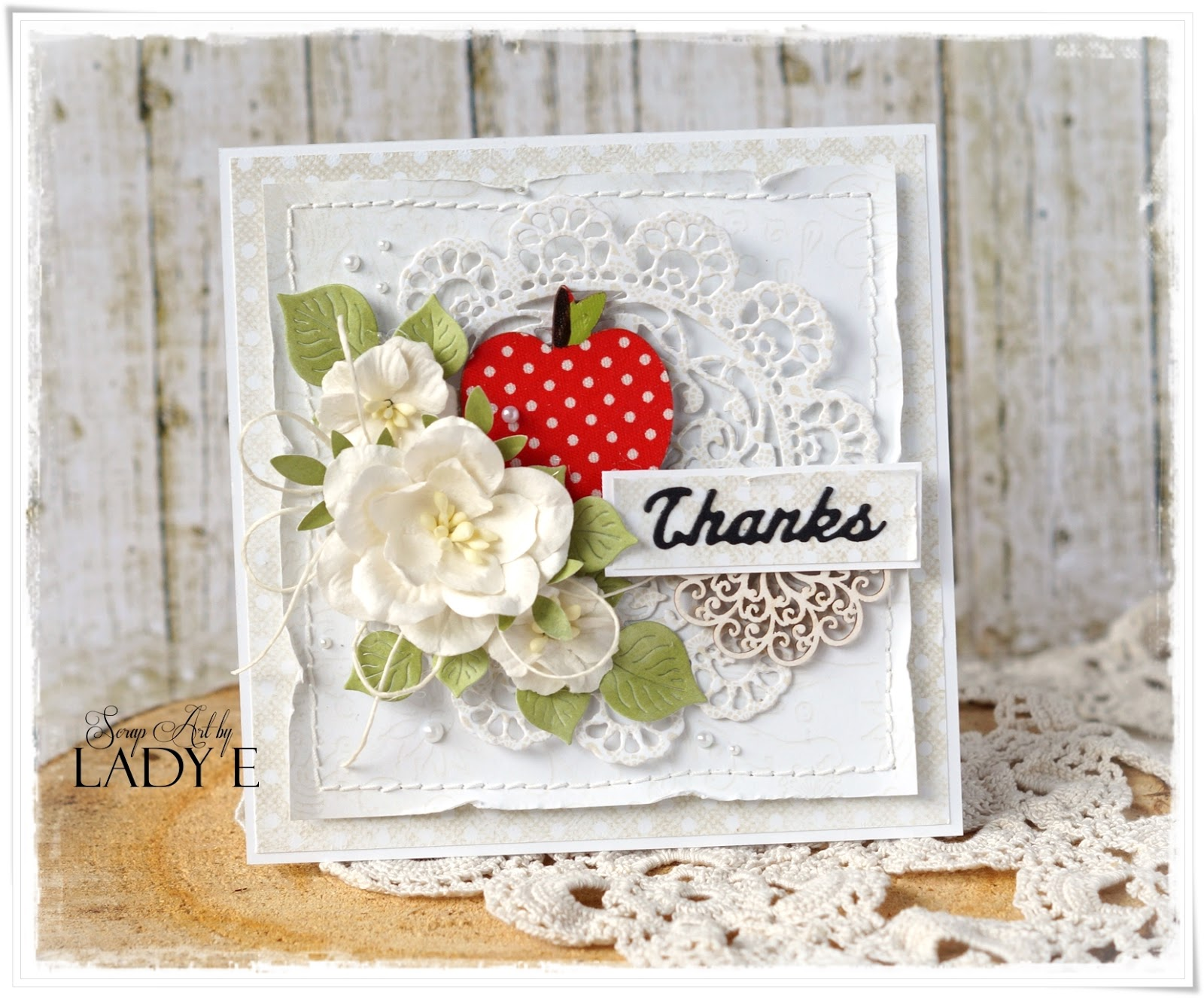 Shabby Chic Thank You Cards For Teachers Scrap Art By Lady E