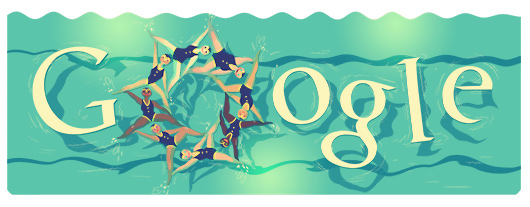 Google Doodles - Olympic Synchronized Swimming 2012
