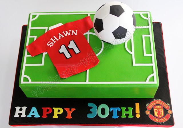Soccer Themed Cake Singapore