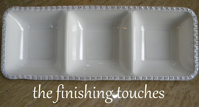 plastic tray, painted plastic tray, embellished tray