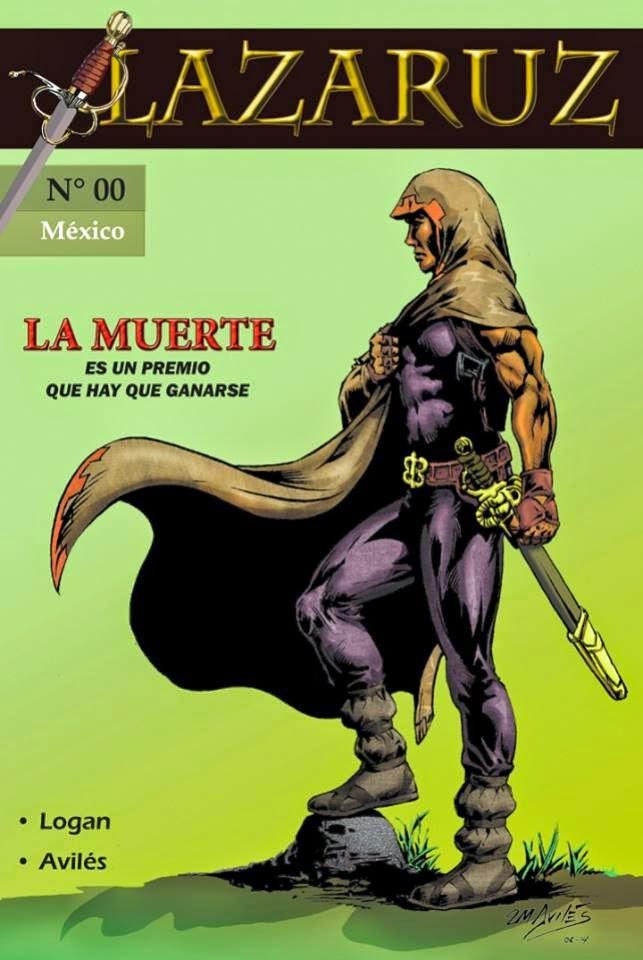 Lazarus, un comic independiente de origen mexicano donde se hace critica social desde la perspectiva de un inmortal