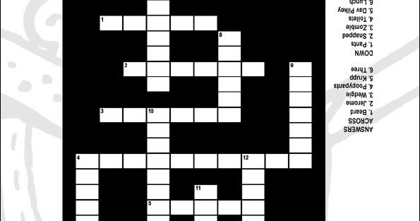 Coloring Amp Activity Pages Captain Underpants Crossword Puzzle