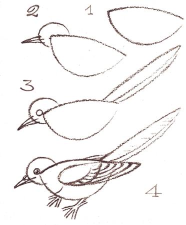 с изображением птиц: