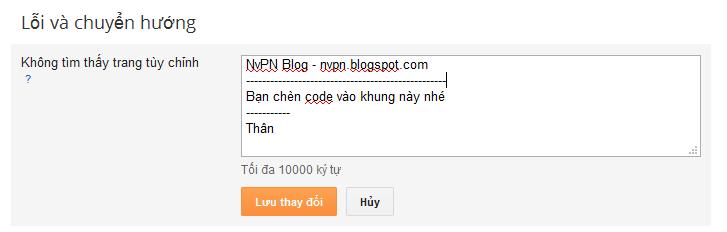 Redirect tất cả lỗi 404 về trang chủ cho Blogger