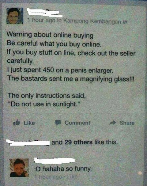 Think Twice before you buy online