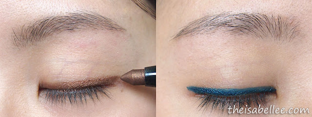 Elianto Long Wear Eyeshadow Stick Brown and Blue eyeliner