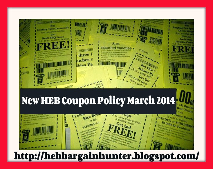 how to coupon at HEB