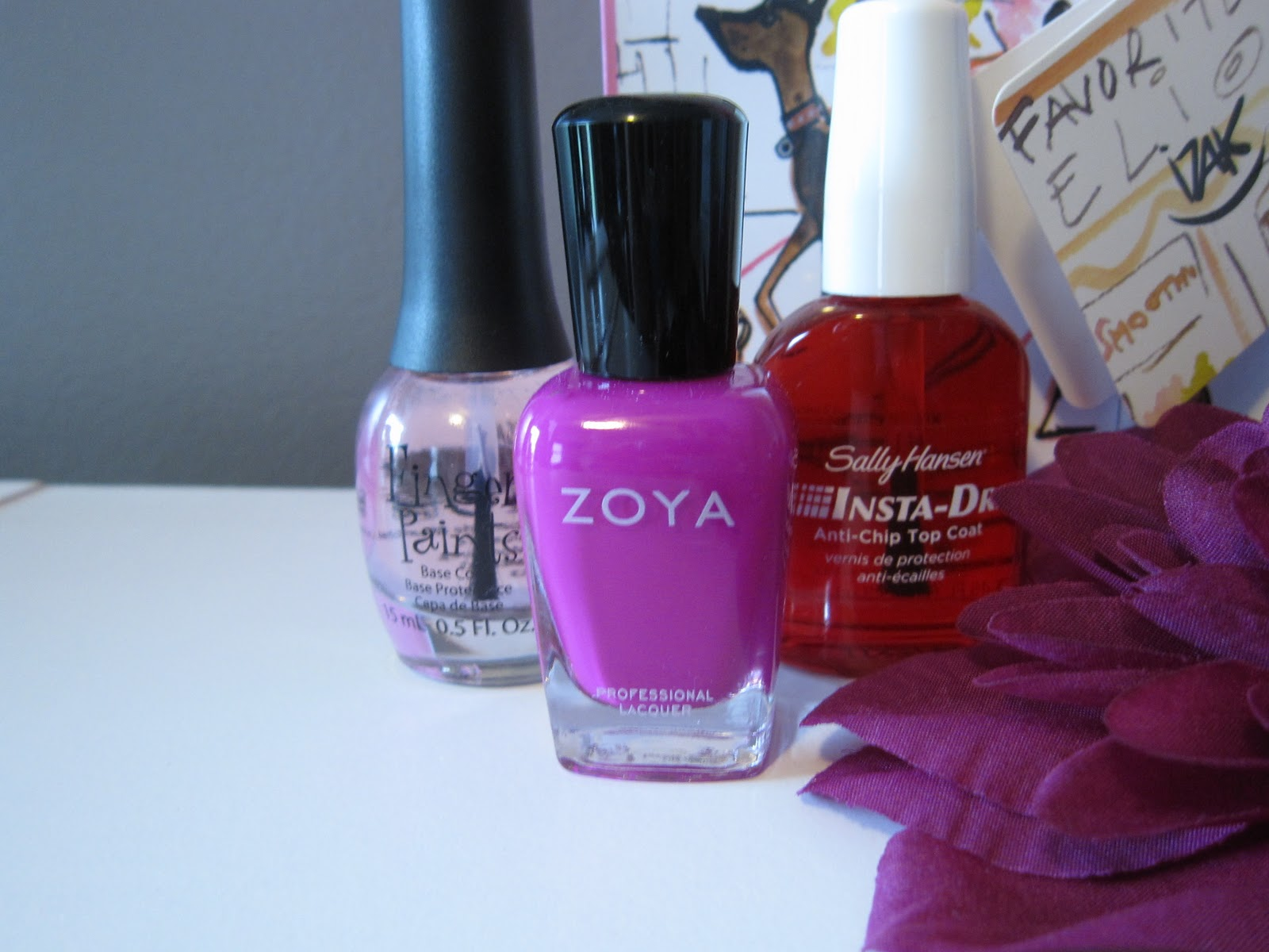 4.) Sally Hansen Instant Dry Topcoat- rare and an essential when using Zoya nail  polish!