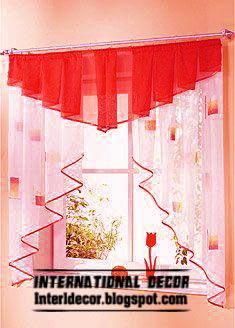 Red small curtain design for kitchens 2016 green curtain small