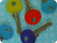 Kulørte nøgler DIY