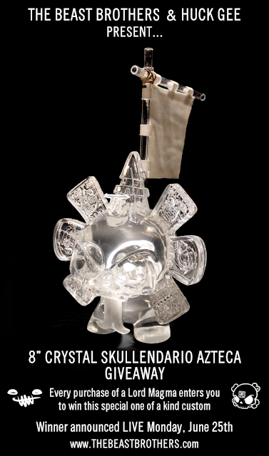 Crystal Skullendario Azteca 8 Inch Custom FIgure by The Beast Brothers &amp; Huck Gee