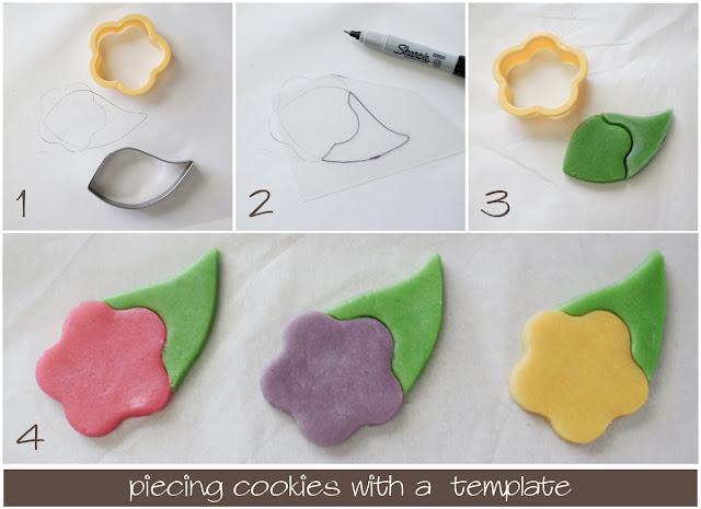 cookie tutorial using a template to join cookie cutters